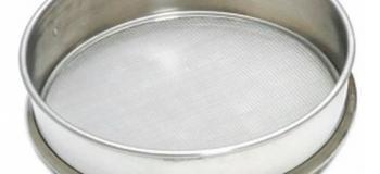 Calibração de peneiras granulométricas
